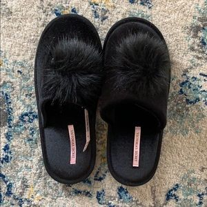 Victoria Secret Black Slippers